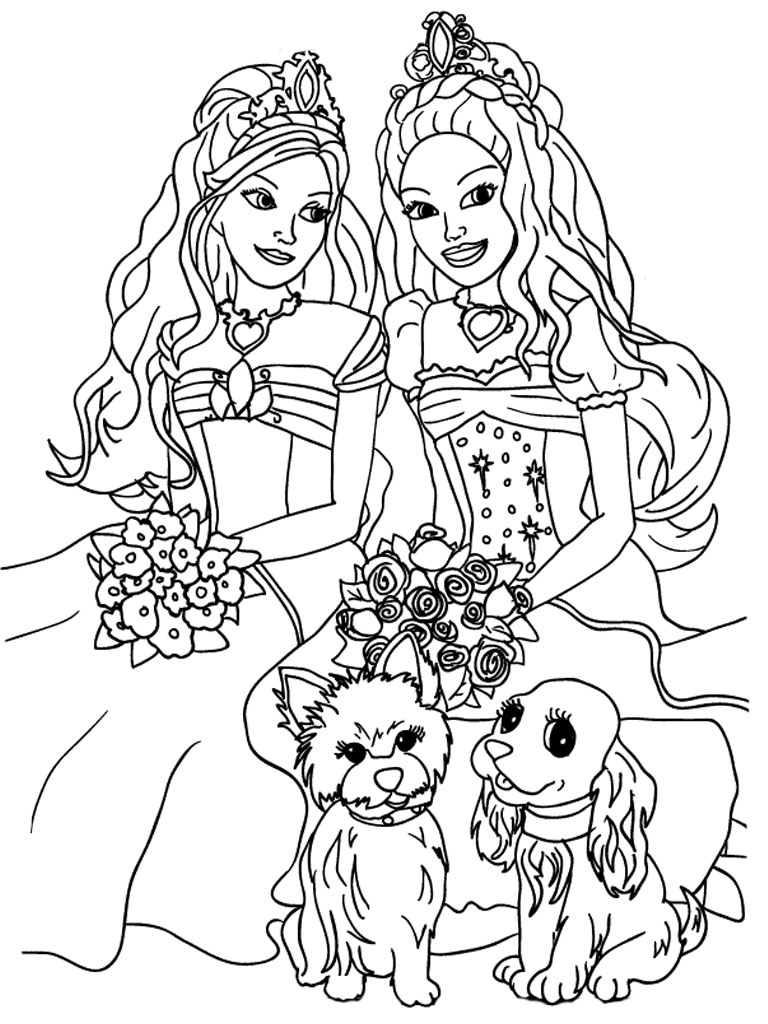 Drawn barbie color Barbie Pinterest 3 Pages Coloring