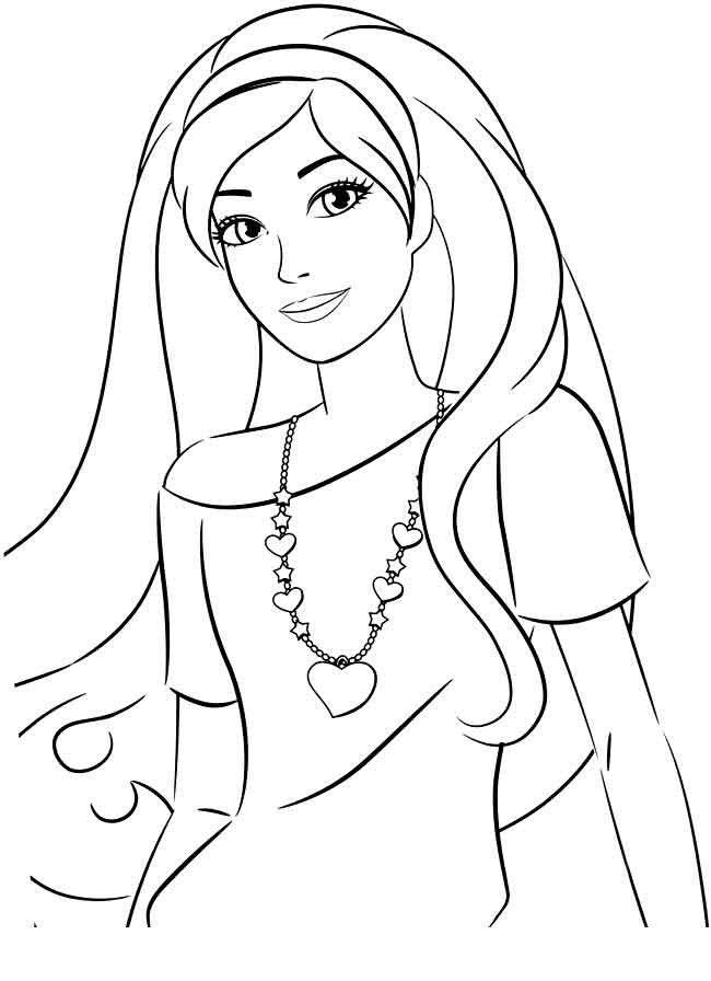 Barbie clipart coloring sheets Collection to computer on pictures