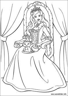 Barbie clipart colour page Blog Coloring barbie Malvorlage Kostenlos