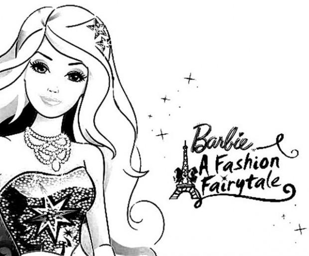Barbie clipart colouring page fashion fairytale 1 Visit coloring fashion barbie