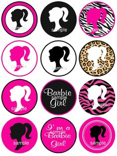 Barbie clipart cupcake topper For sample Instant 00 Download