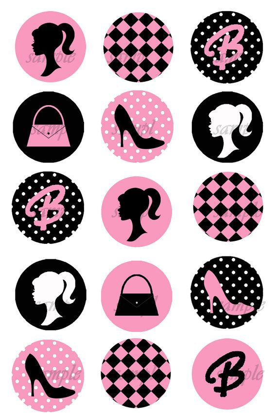 Barbie clipart cupcake topper Freebies Cupcakes Barbie for wrappers