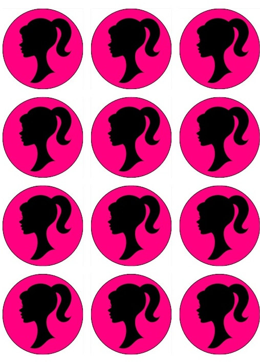 Barbie clipart cupcake topper VINTAGE Cupcake 00 Toppers by
