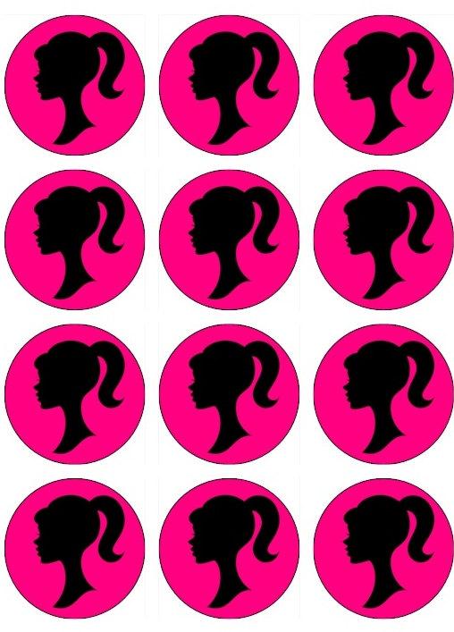 Barbie clipart cupcake topper SILLOUETTE Cupcake BARBIE 00 Cupcake
