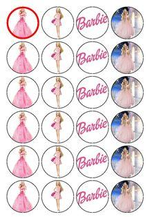 Barbie clipart cupcake topper Pinterest edible mixed cupcake Barbie