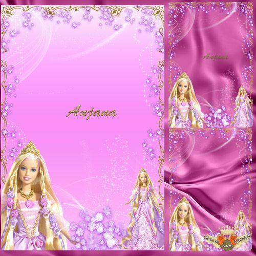 Barbie clipart frame For gift princesses girls for
