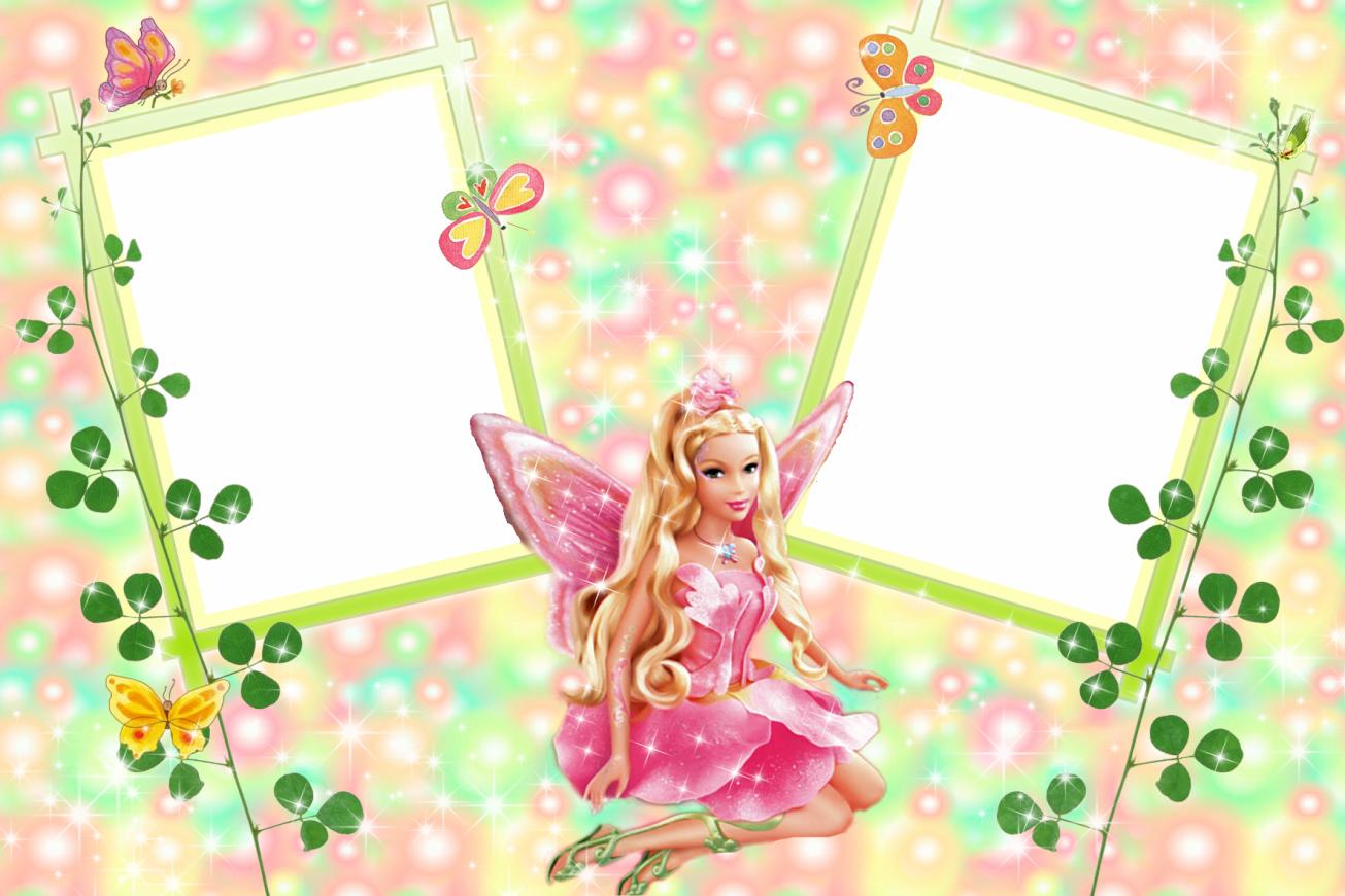 Barbie clipart frame More! de Transparentes: Barbie Pinterest