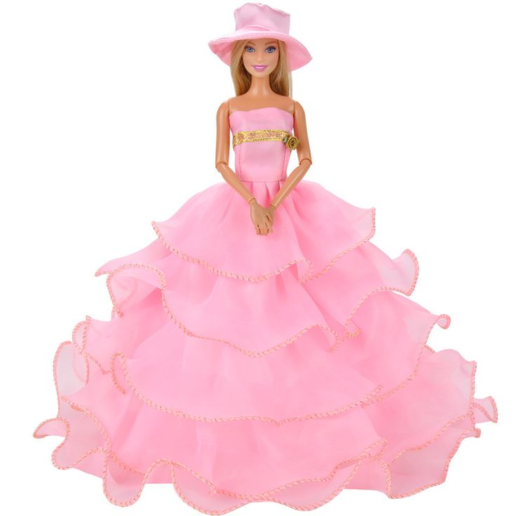 Barbie clipart frock Dress doll Pink Gown Pink