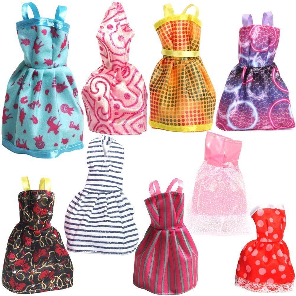 Barbie clipart frock Pack Dresses Handmade of 9: