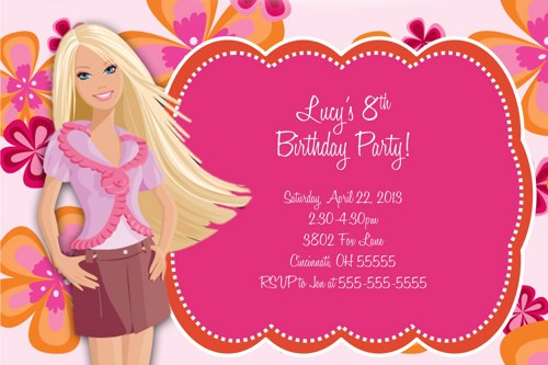 Barbie clipart invitation  Barbie Free Art Free