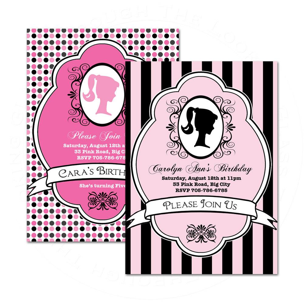 Barbie clipart invitation Like or Barbie Birthday this