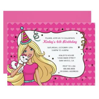 Barbie clipart invitation Barbie Announcements & Invitation Heart
