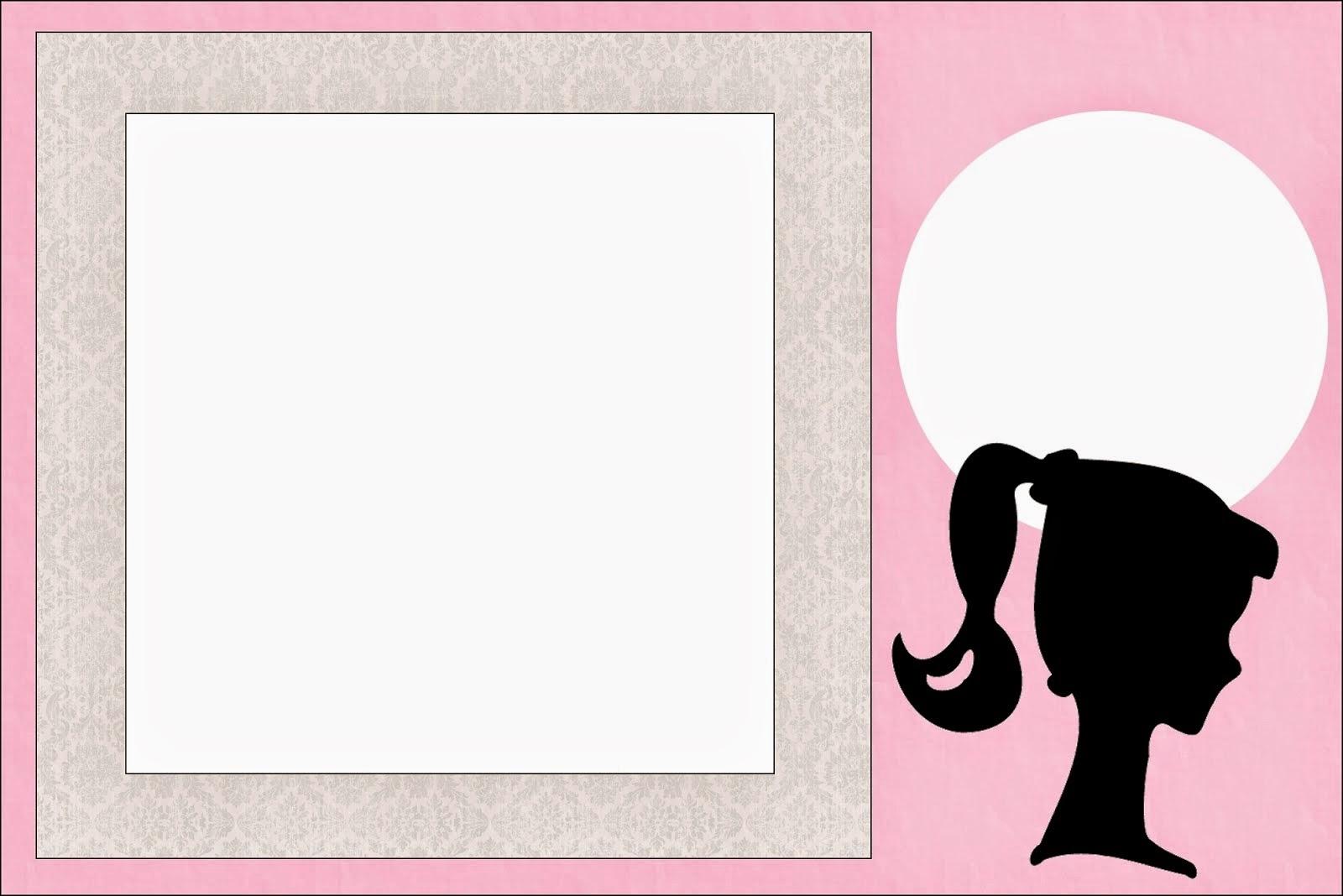Barbie clipart invitation For Barbie  Printable Free