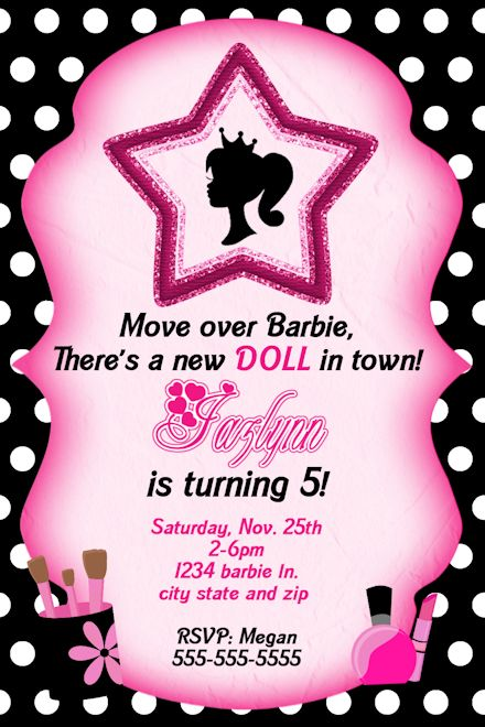 Barbie clipart invitation Art Free Silhouette SVG Search