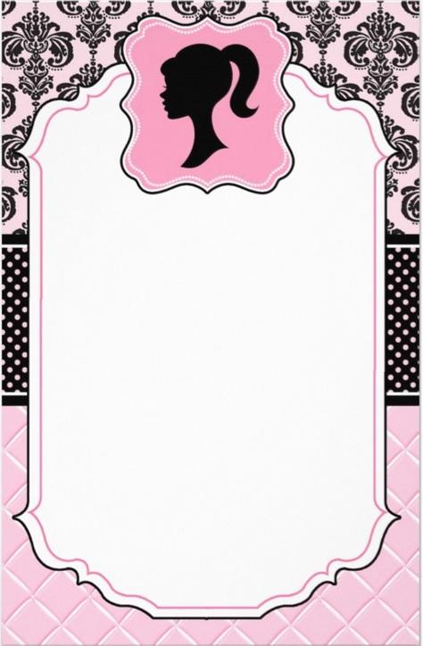 Barbie clipart invitation Barbie girly  love! invite
