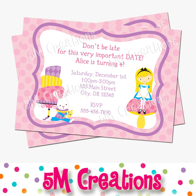 Barbie clipart invitation E Birthday Party Invitations Invites
