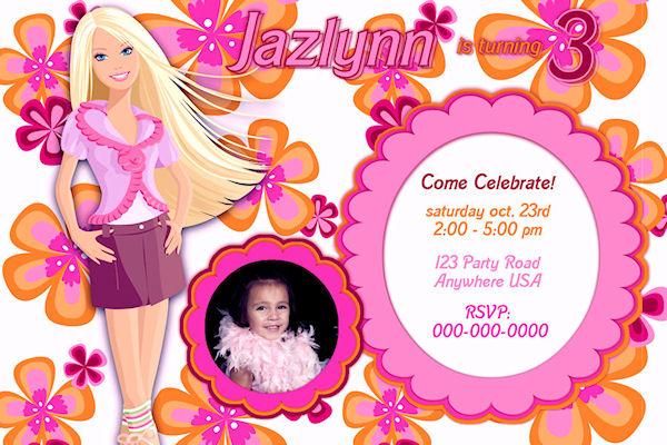 Barbie clipart invitation Appearance Barbie Invitations Barbie invitation