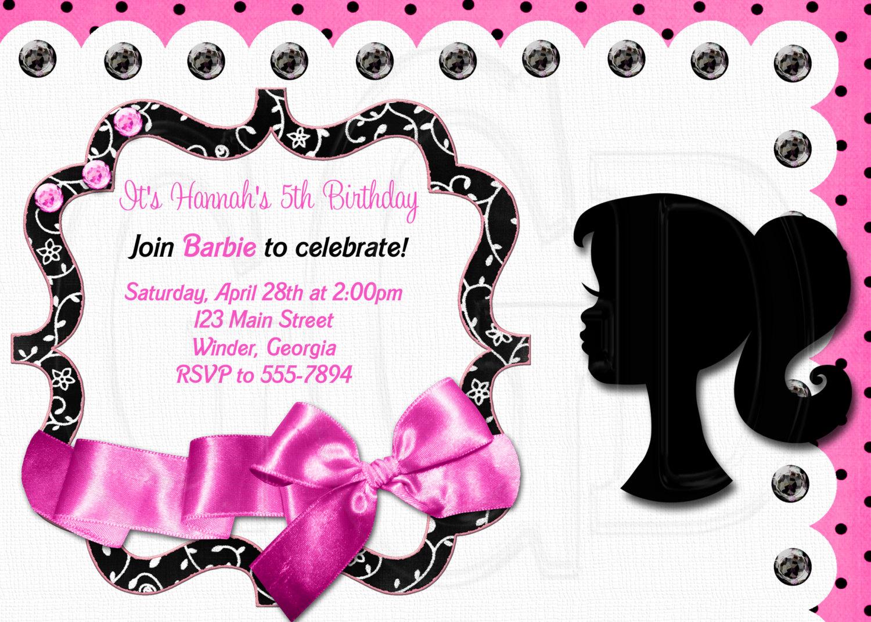 Barbie clipart invitation Barbie Invitation Barbie beautiful Invitation
