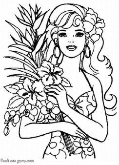Barbie clipart line art Coloring art clipart clip pages