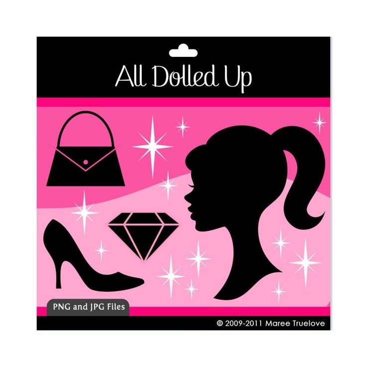 Barbie clipart lipstick Images Dolled Digital Up on
