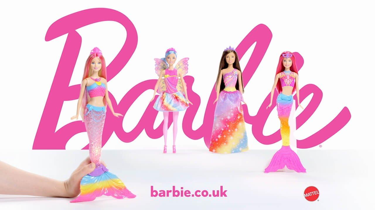 Barbie clipart pink mermaid YouTube Rainbow Mermaid Smyths Toys