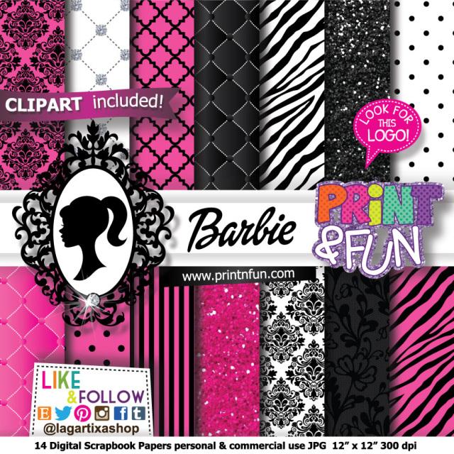 Barbie clipart pink mermaid Pink for Barbie Barbie Digital