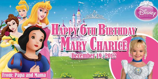 Barbie clipart tarpaulin Birthday Template Template Tarpaulin Disney