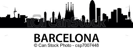 Barcelona clipart Of  vector illustration Barcelona