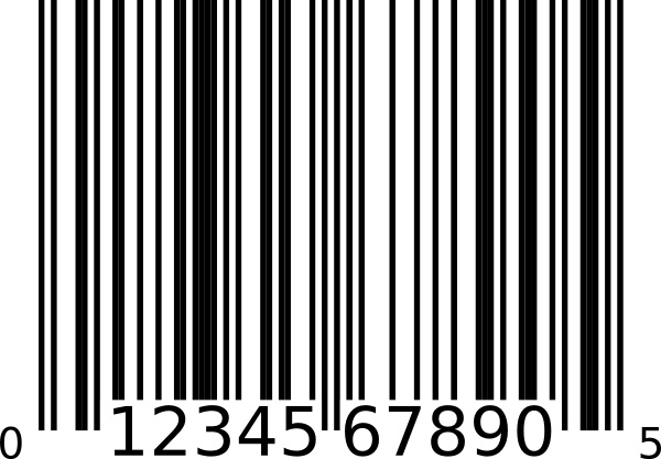 Barcode clipart real Upc Upc vector  Bar