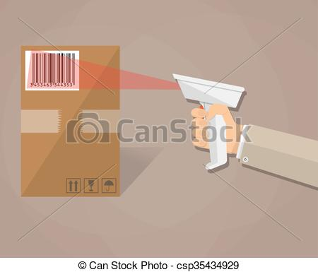 Barcode clipart cartoon With is is of Vector