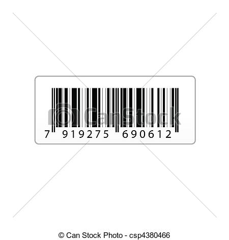 Barcode clipart date Art vector  of of