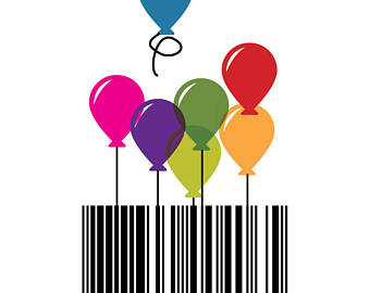 Barcode clipart happy birthday Code A4 Etsy Bar Download