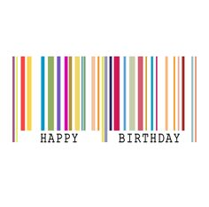 Barcode clipart happy birthday Barcode vector Happy card Birthday