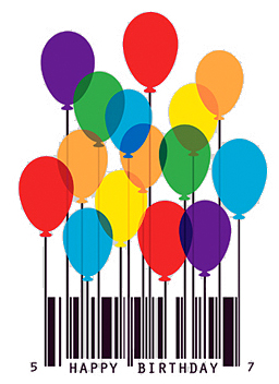 Barcode clipart happy birthday Birthday barcode History  Labels