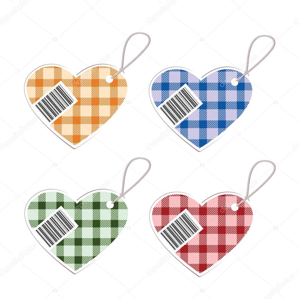 Barcode clipart heart #7
