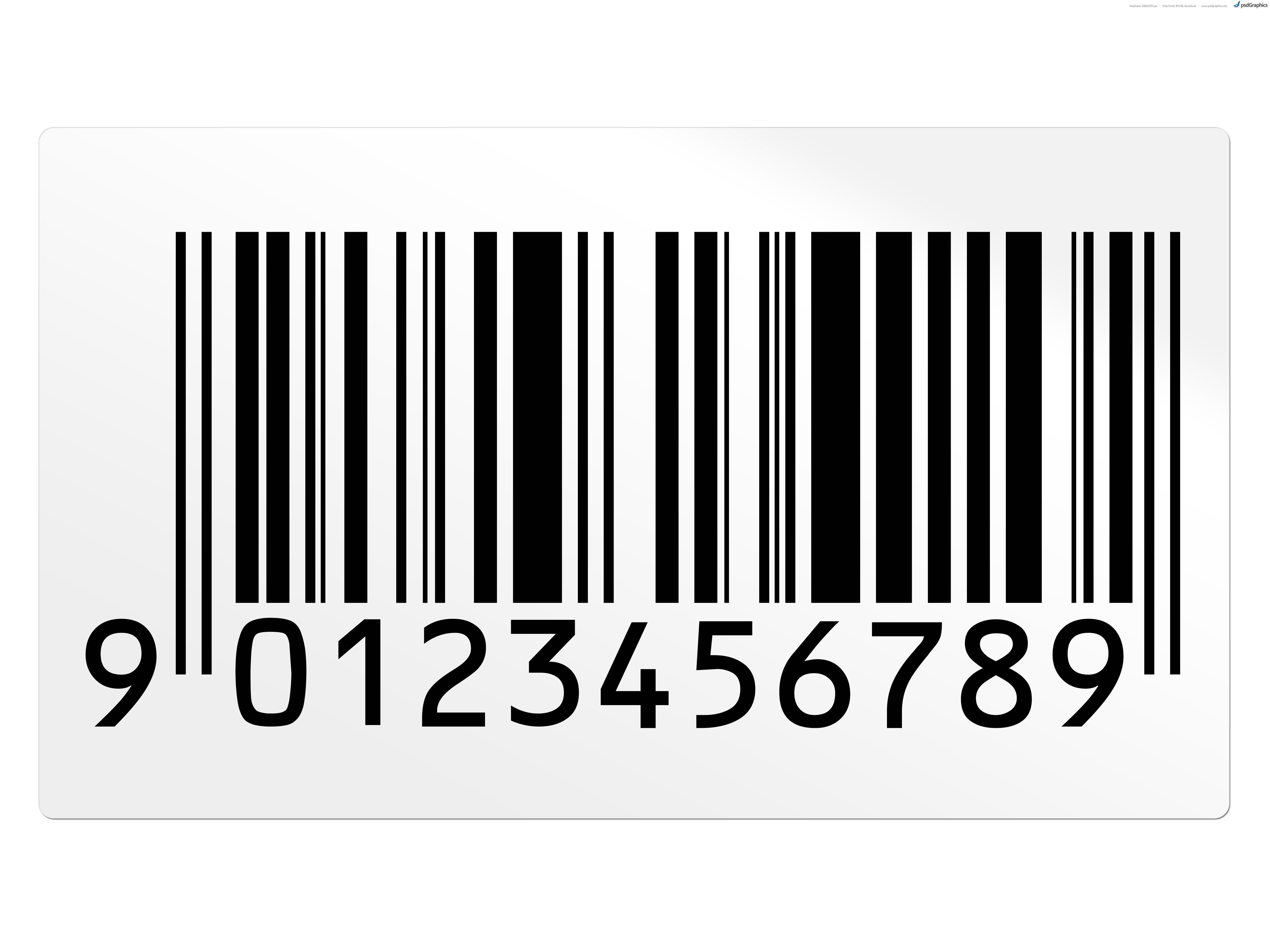 Barcode clipart magazine barcode PSDGraphics graphics Barcode Barcode font
