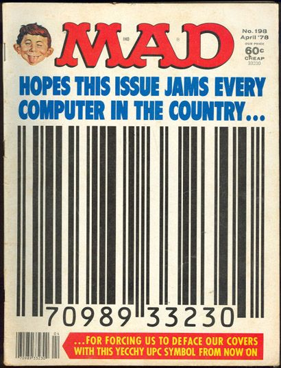 Barcode clipart magazine cover Cover images very MAD Pinterest