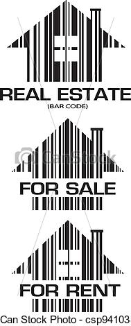 Barcode clipart real Vector illustration Real royalty Estate