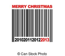 Barcode clipart special Merry Christmas Stock and