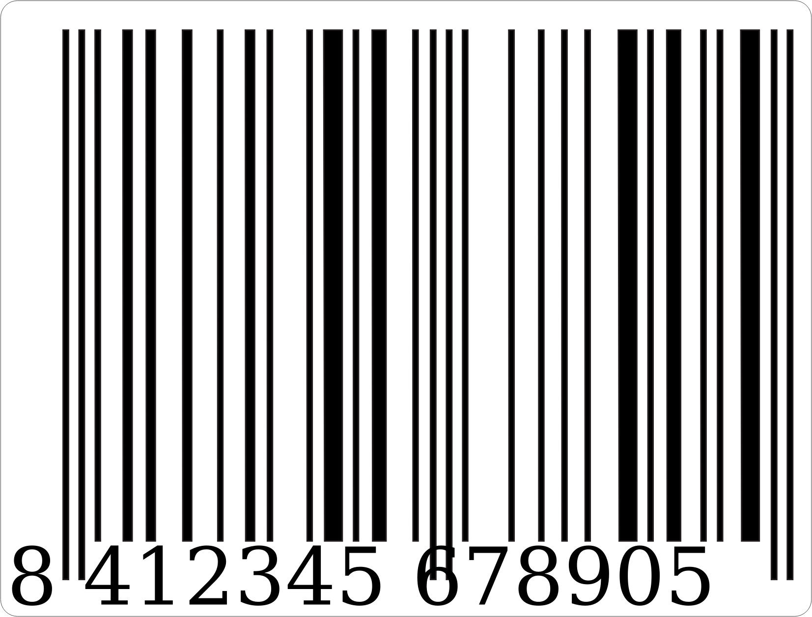 Barcode clipart special Manorito (PNG) IMAGE barcodebandw Clipart