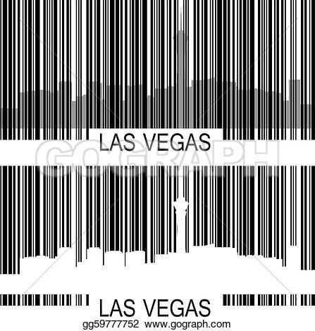 Barcode clipart unique Las skyline Clipart Illustration