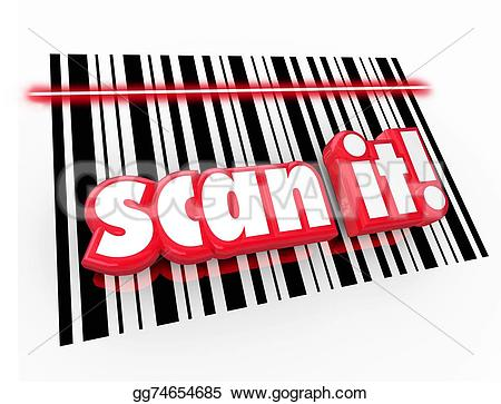 Barcode clipart upc code Scan UPC Code barcode Words