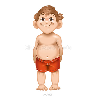 Barefoot clipart brown hair boy With Clipart Clip  Art