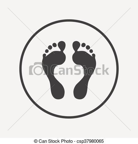 Barefoot clipart human footprint Of Art footprint footprint sign