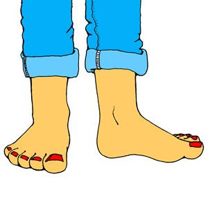 Barefoot clipart toe #5