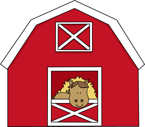 Barn clipart Red Barn Art in Image
