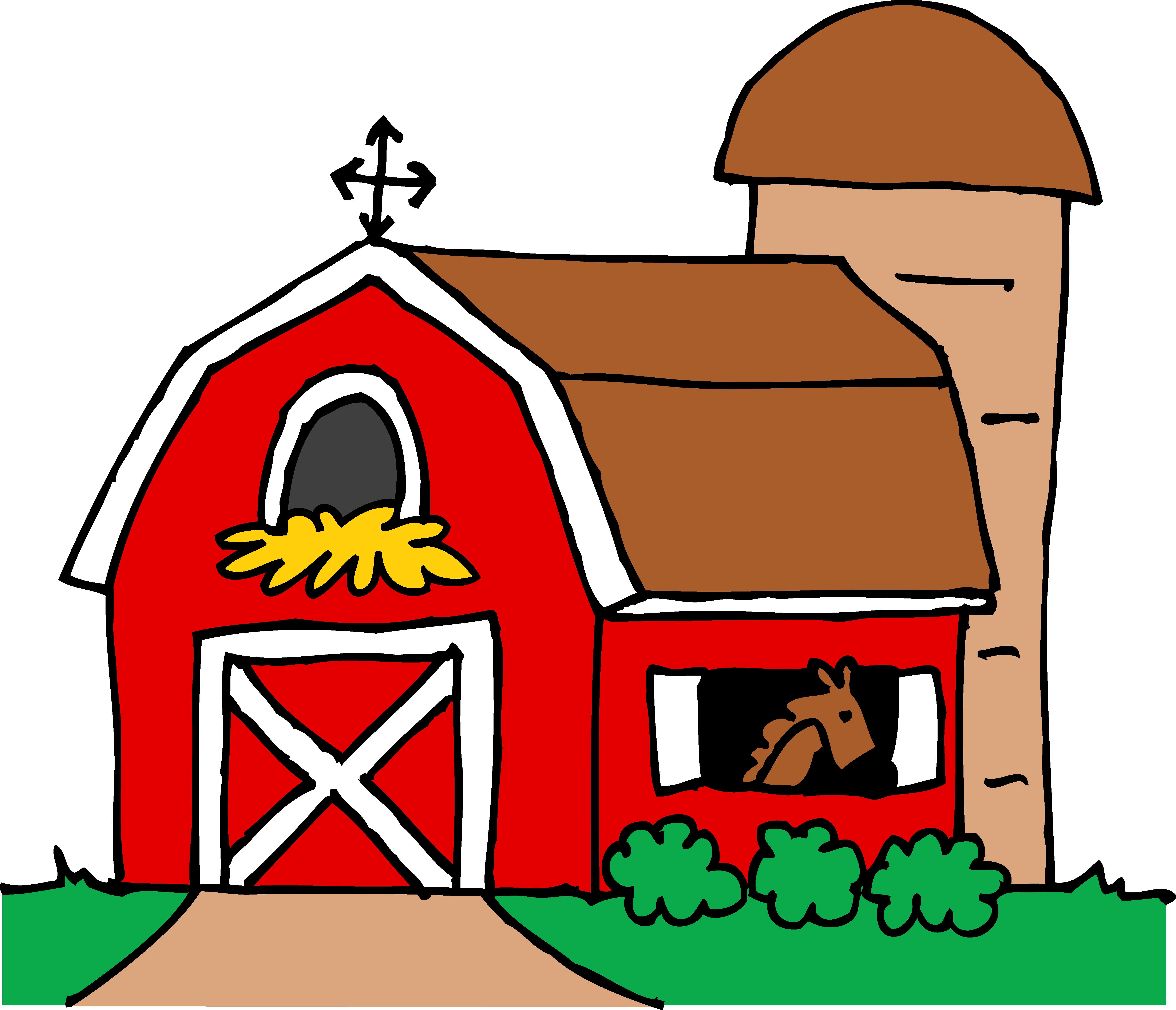 Open Door clipart kitchen window Red art free Barn Free