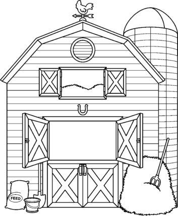 Barn clipart black and white And ClipartWar Black > White