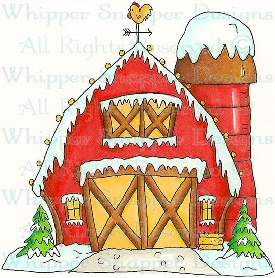 Barn clipart cow shed Rubber Christmas Winter Christmas Christmas