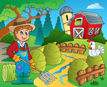 Barn clipart farm land Vector Illustrations Stock designs projects
